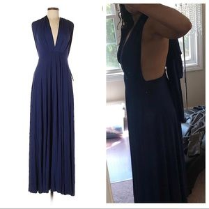 Lulu's Navy Blue Maxi Dress NWT
